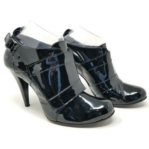 Costume National Patent Black Leather Heels